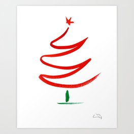 Xtmas Tree Art Print
