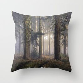 Puddletown Forest Throw Pillow