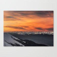 Peaks III Canvas Print