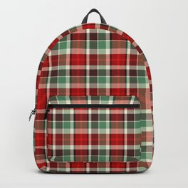 Christmas Plaid 13 Backpack