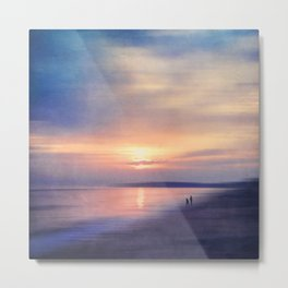 Calm Sea - Abstract Seascape at Sunset Metal Print