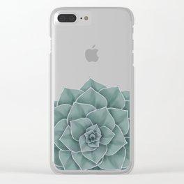Big Green Echeveria Design Clear iPhone Case