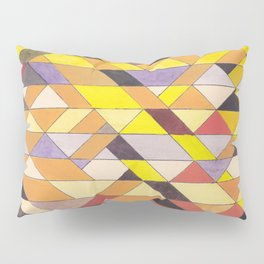 Triangle Pattern No.8 Black and Yellow Pillow Sham