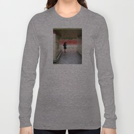 Taking Notes on the Subway Long Sleeve T-shirt
