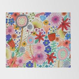 fleur-moi Throw Blanket