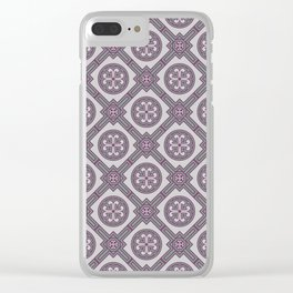 Flourishing Heart Abstract Seamless Pattern Clear iPhone Case