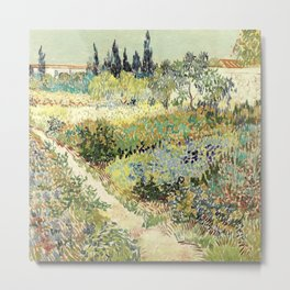 Vincent Van Gogh : Garden at Arles Metal Print