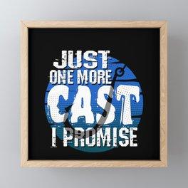 Fishing Angler Gift Framed Mini Art Print