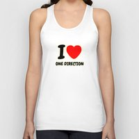 one direction Tank Tops featuring ONE DIRECTION by Bilqis