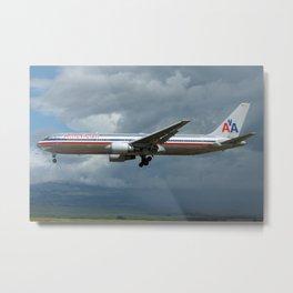 American Airlines 767-300ER at Maui Metal Print