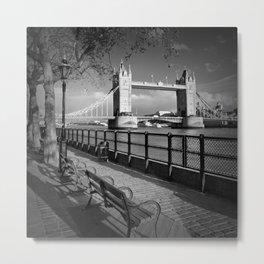 LONDON Thames Riverside & Tower Bridge Metal Print