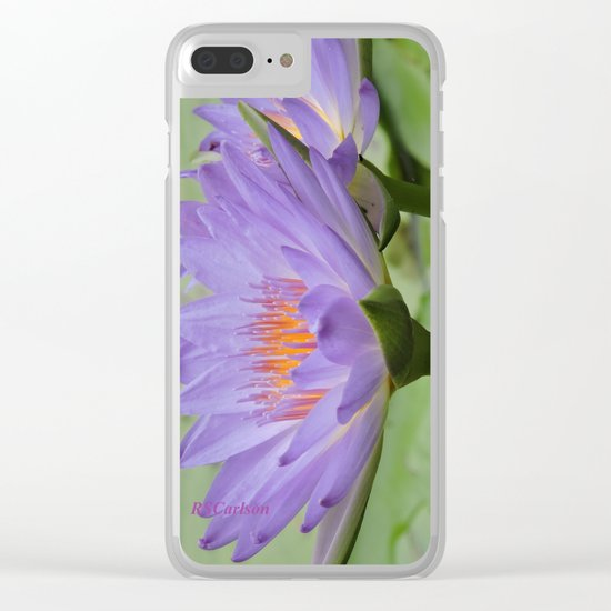 Blue Water Lilies in Hangzhou Clear iPhone Case