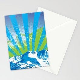 Mt. Alyeska Ski Rise by Crow Creek Cool Stationery Cards