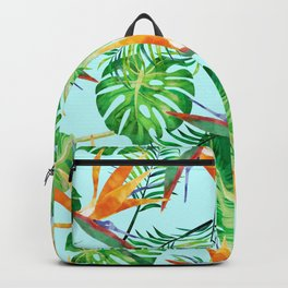 Tropical and exotic pattern painting Backpack