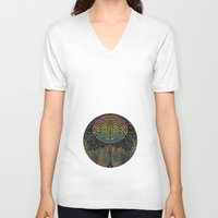 biology V-neck T-shirts featuring Tree of New Life by Klara Acel