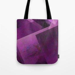 Royal Fuchsia Shapes - Digital Geometric Texture Tote Bag
