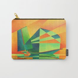 Chinese Junk Sails at Sunrise Carry-All Pouch