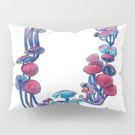 Dyed mushrooms Pillow Sham