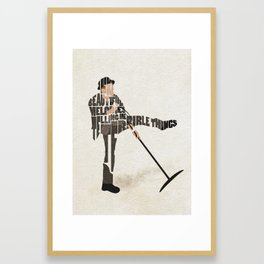 Typography Art of Tom Waits Framed Art Print