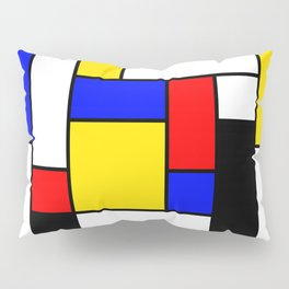 Mondrian Geometric Art 2 Pillow Sham