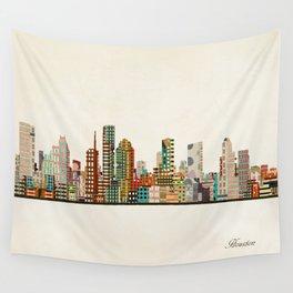 houston texas skyline Wall Tapestry