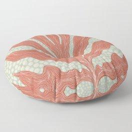 Red Seaweed Floor Pillow