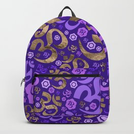 OM symbol pattern - purples and gold Backpack