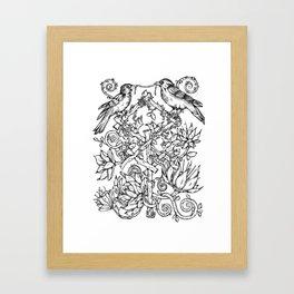 Runes & Ravens Framed Art Print