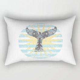 Vintage Hawaiian Whales Tail Rectangular Pillow