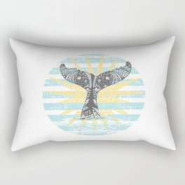 Vintage Hawaiian Whales Tail Rectangular Pillow
