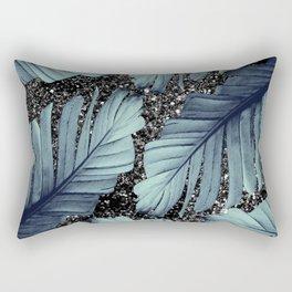 Banana Leaves Glitter Glam #1 #shiny #tropical #decor #art #society6 Rectangular Pillow