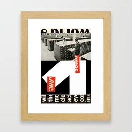 Card Catalog Framed Art Print