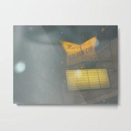 Marie's Golden Cue ~ Chicago Billiards Metal Print