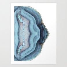 Light Blue Agate Art Print