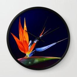 Birds of Paradise Wall Clock
