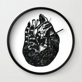 Sleeping Cat - Lino Wall Clock
