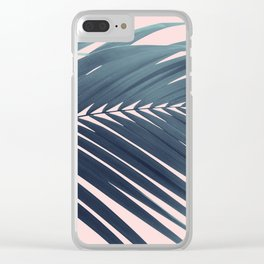 Palm Leaf Blush Vibes #1 #tropical #decor #art #society6 Clear iPhone Case