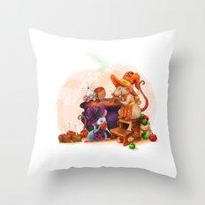 Caramel Witches Brew Throw Pillow
