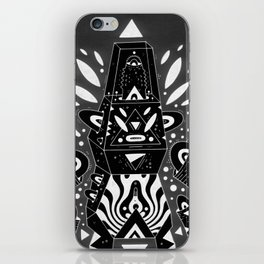 techno ghost iPhone Skin