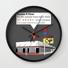 Double R Diner reviews Wall Clock