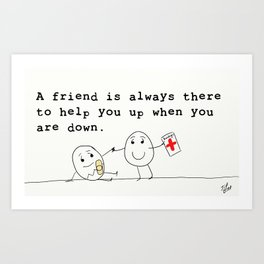 What Friends Are For Art Print