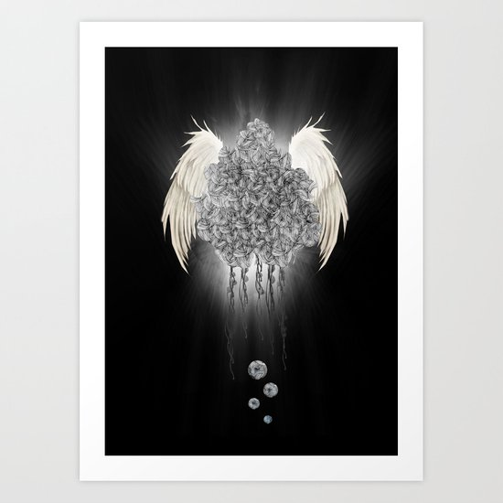 Angel of the chaos Art Print