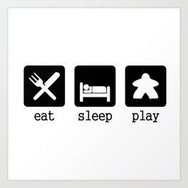 Eat, sleep, play Art Print