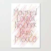 cities Canvas Prints featuring CITIES by K'VAL