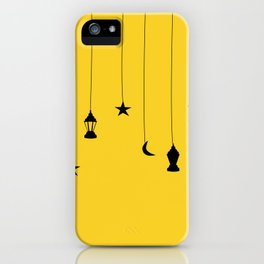 yellow falling star iPhone Case