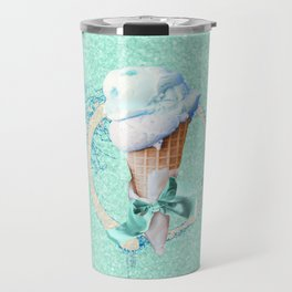 Blue Sugar Icecream Cone Travel Mug