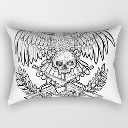 Eagle Skull Assault Rifle Drawing Rectangular Pillow