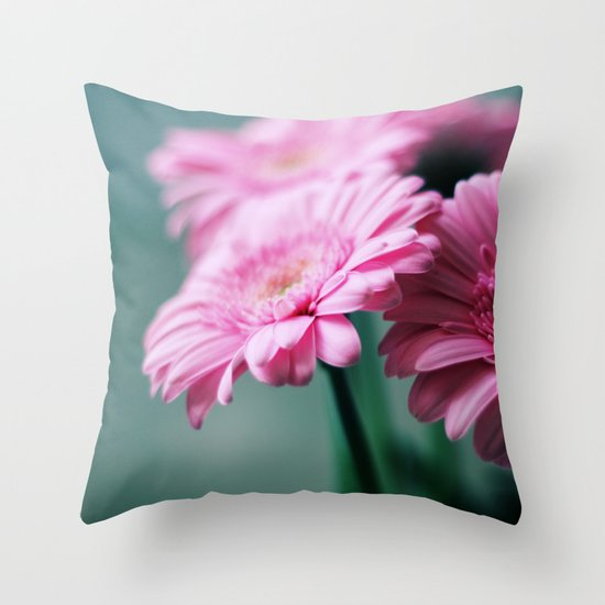 Pink Gerbera Dream°2 Throw Pillow