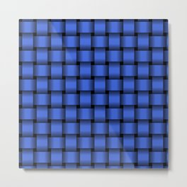 Royal Blue Weave Metal Print