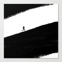 running Canvas Prints featuring Running by eARTh